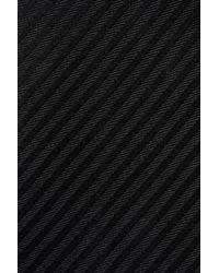 Emporio Armani - Black Striped Silk Tie for Men - Lyst
