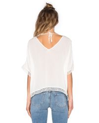 Bishop + Young - Black Embroidered Trim Top - Lyst