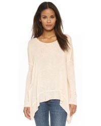 Free People | Natural Shadow Hacci Pullover - Alabaster Combo | Lyst