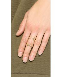 Elizabeth and James | Metallic Edo & Kuril Ring Set - Gold | Lyst
