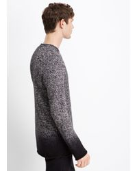 VINCE | Gray Marled Cashmere Dégradé Crew Neck Sweater for Men | Lyst