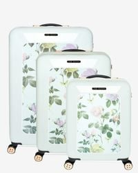 Ted Baker - Green Large Distinguishing Rose Suitcase - Lyst