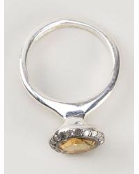 Rosa Maria - Yellow 'beril' Ring - Lyst