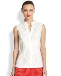 Akris Punto | Natural Mandarin Collar Shirt | Lyst