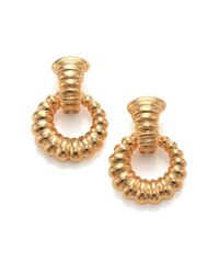 John Hardy | Metallic Bedeg 18k Yellow Gold Doorknocker Earrings | Lyst