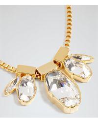 Reiss - Metallic Anastacia Necklace With Crystals From Swarovski - Lyst