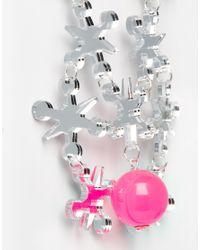 Tatty Devine - Pink Jacks Necklace - Lyst