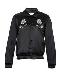 TOPMAN - Tmd Black Let's Riot Patch Leather Jacket* for Men - Lyst