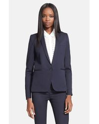 The Kooples | Blue Stretch Wool Jacket | Lyst