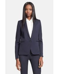 The Kooples - Blue Stretch Wool Jacket - Lyst