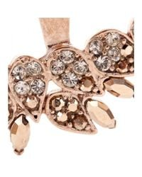 Joanna Laura Constantine - Pink Rose Gold-plated Crystal-embellished Earrings - Lyst