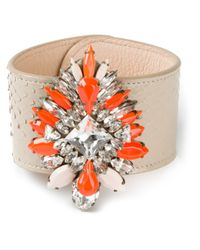 Shourouk - Orange 'comet' Cuff - Lyst