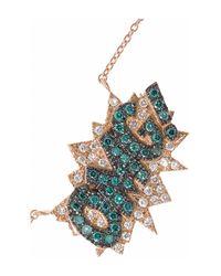 Diane Kordas - Blue Omg 18karat Rose Gold Diamond Necklace - Lyst