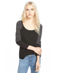 Splendid - Black Long Sleeve Thermal Tee - Lyst