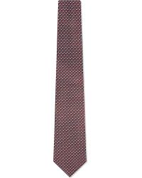 Armani | Red Perpendicular Triangle Patterned Silk Tie for Men | Lyst