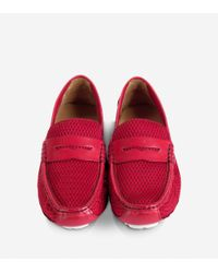 Cole Haan - Red Grant Mesh Canoe Penny for Men - Lyst