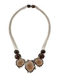 Alexis Bittar Fine   Metallic Large Smoky Quartz & Diamond Cluster Necklace   Lyst