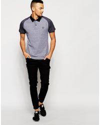 Jack & Jones | Black Polo Shirt With Contrast Raglan Sleeves for Men | Lyst