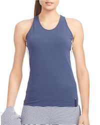 Lauren by Ralph Lauren | Blue Stretch-jersey Tank | Lyst