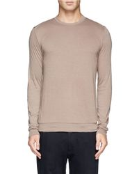 Kolor - Natural Cotton-cashmere T-shirt for Men - Lyst