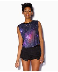 Forever 21 - Blue Celestial Print Muscle Tee - Lyst