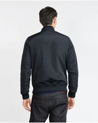 Zara | Blue Bomber Jacket With Quilted Lining for Men | Lyst