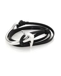 Miansai | Black Anchor Leather Wrap Bracelet for Men | Lyst