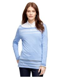 Brooks Brothers | Blue Silk And Cotton Sweater | Lyst
