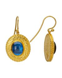 Gurhan | Metallic Renaissance 24k Gold And Blue Kyanite Earrings | Lyst