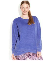 Calvin Klein - Blue Performance Plus Size Tulip-Hem Sweatshirt - Lyst