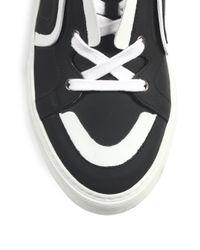 Pierre Hardy - Black Neoprene Contrast High-top Sneakers - Lyst