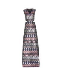 Tory Burch | Gray Jacquard Cut-out Dress | Lyst