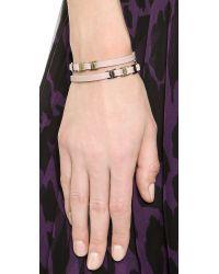 Ferragamo - Metallic Varini Bracelet - Macaron/Oro - Lyst