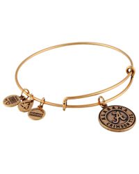 ALEX AND ANI | Metallic University Of Alabama® Logo Charm Bangle | Lyst