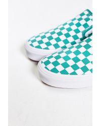 Vans - Blue Classic Checkered Slip-on Sneaker for Men - Lyst