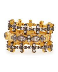 Freida Rothman | Metallic Set Of Three Cz Stackable Infinity Rings | Lyst