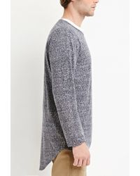 Forever 21 - Gray Marled Knit Pocket Tee You've Been Added To The Waitlist for Men - Lyst