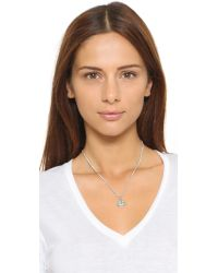 Marc By Marc Jacobs - Metallic Smiley Logo Pendant Necklace - Argento - Lyst