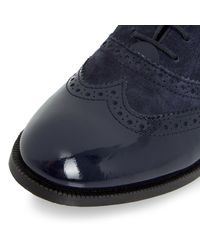 Dune - Blue Fountain Suede Lace Up Brogues - Lyst