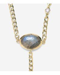 """Cole Haan - Gray 22"""" Semi-precious Pendant Y Necklace - Lyst"""