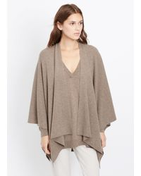 Vince | Brown Luxe Cashmere Poncho | Lyst