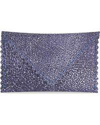 Undercover - Blue Mini Metallic Leather Envelope - Lyst
