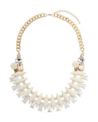 Mikey - Metallic Eclipsce Crystals Linked Design Choker - Lyst