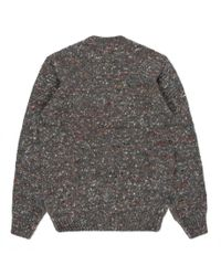 Paul Smith - Gray Men's Grey Alpaca-silk Blend Flecked Knitted Sweater for Men - Lyst