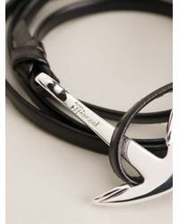 Miansai | Black Anchor Bracelet for Men | Lyst