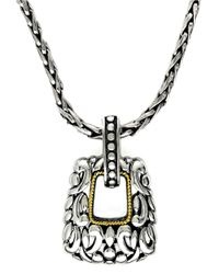 Effy   Metallic Balissima Sterling Silver And 18 Kt. Yellow Gold Pendant   Lyst