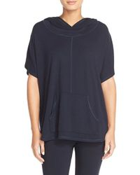 Midnight By Carole Hochman | Blue Hooded Pullover Top | Lyst