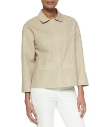 Lafayette 148 New York - Natural Perforated Bracelet-sleeve Topper - Lyst