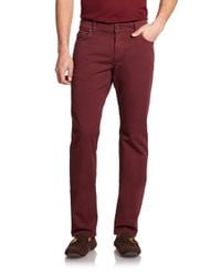 Ferragamo | Red Straight-leg Jeans for Men | Lyst