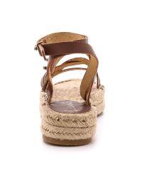 Splendid - Brown Erin Double Espadrille Sandals - Cognac - Lyst